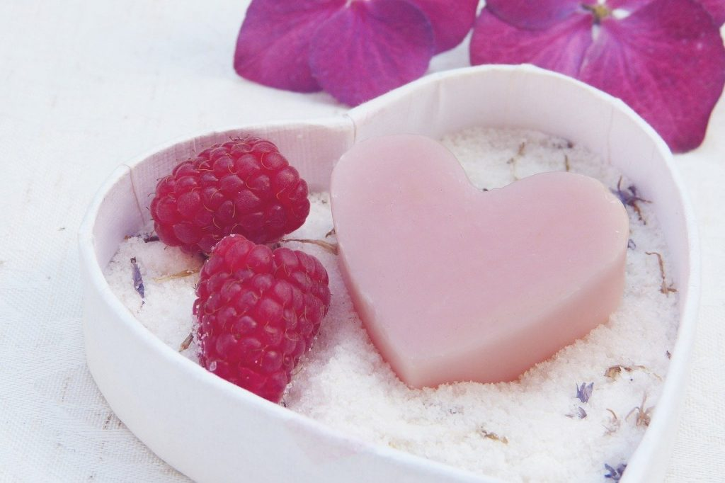 soap, heart, pink